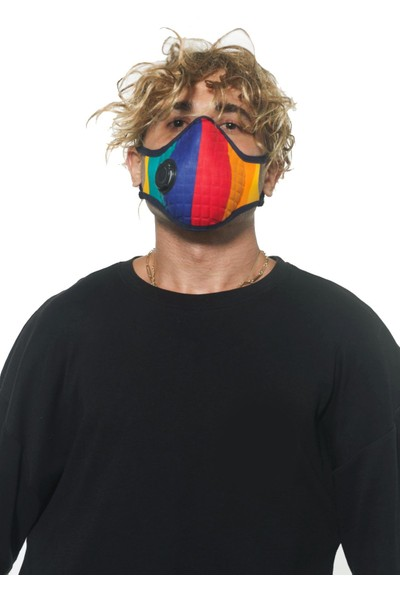 Oxy Ayarlanabilen Filtreli Gökkuşağı Yıkanabilir Maske