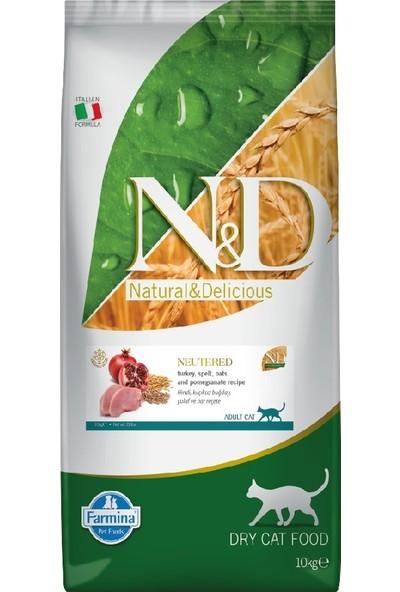 N&D Düşük Tahıllı Hindi Etli, Narlı Kısırlaştırılmış Kedi Maması 10 KG