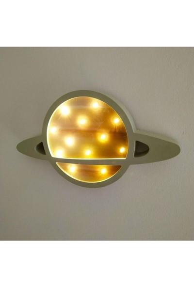 Bebenis Satürn Gece Lambası Sarı