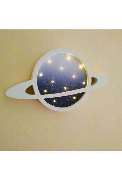 Bebenis Satürn Gece Lambası Mavi