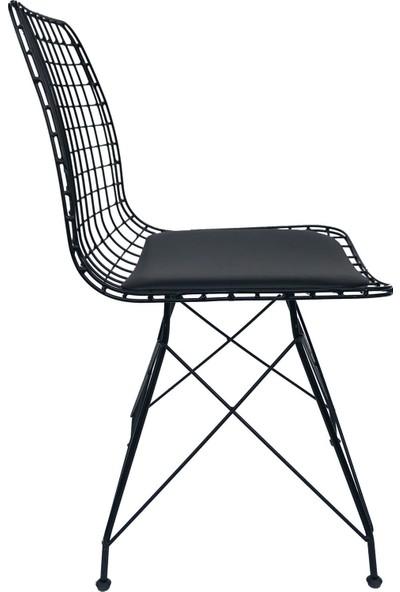 Ciciler 4'lü Takım Siyah Tel Sandalye