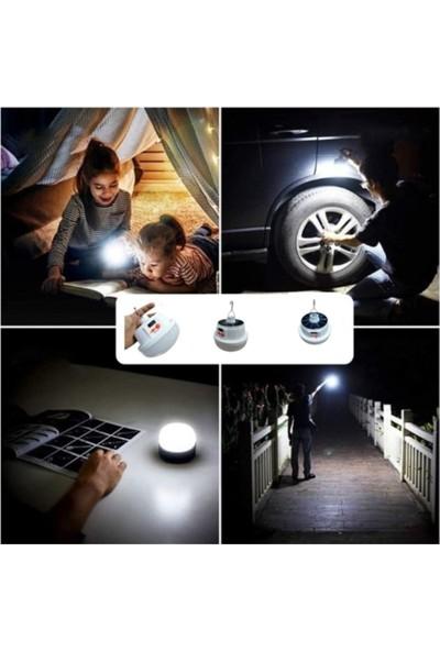 Gold Silver GS-3900 Güneş Enerjili Şarj Edilebilir LED Lamba Çadır Feneri