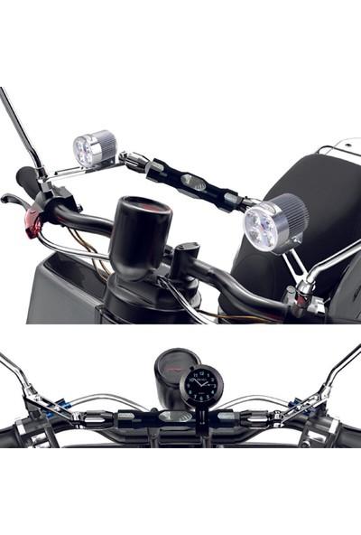 Knmaster Uzunluğu Ayarlanabilir Ayna Bağlantılı Motosiklet Gidon Barı