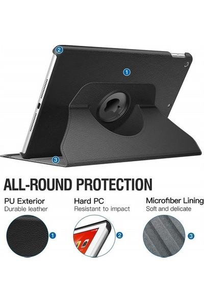 Fujimax ipad 8. Nesil 10.2 inç A2428 A2429 A2430 A2270 Seri 360 Derece Yatay ve Dikey Dönerli Tablet Kılıf
