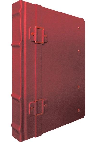 Gıpta 2396 Firenze Deri 160 Yaprak Çizgisiz Ciltli Defter 17 x 24 cm Koyu Kırmızı