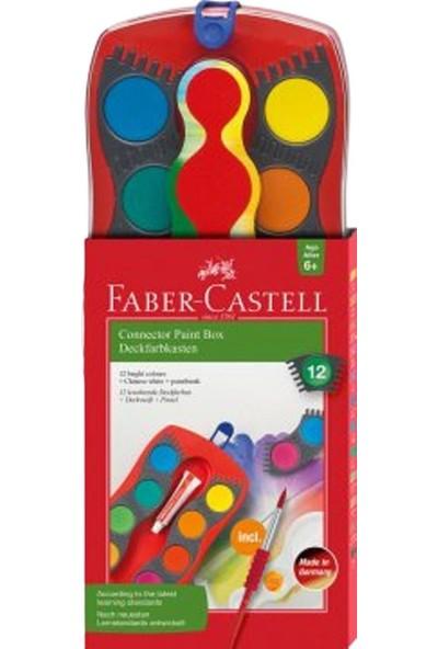 Faber-Castell Sulu Boya Connector Büyük Boydeğiştirilebilir Tablet 12 Renk 12 50 23