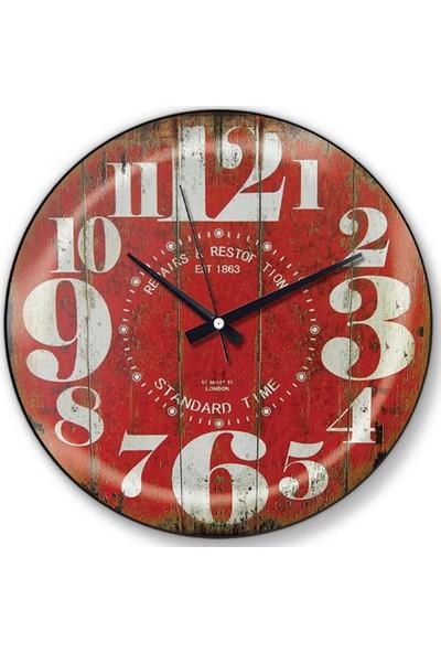 Time Gold Side Duvar Saati 188D13