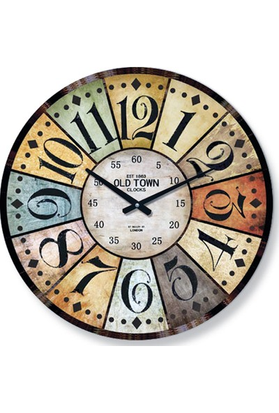Time Gold Side Duvar Saati 213-2
