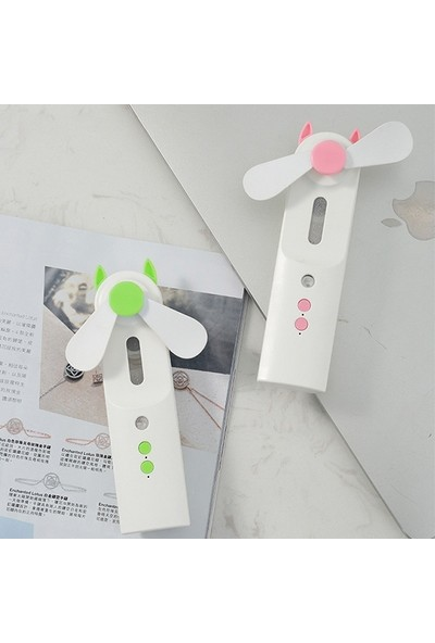 Ally Mini Taşınabilir Buharlı Vantilatör USB Şarj Edilebilir Mini El Fanı AL-32648