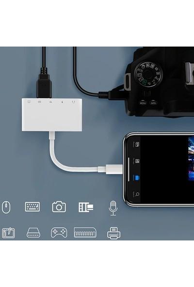 Ally 5in1 Lightning To Audio USB Kamera Okuyucu AL-32649
