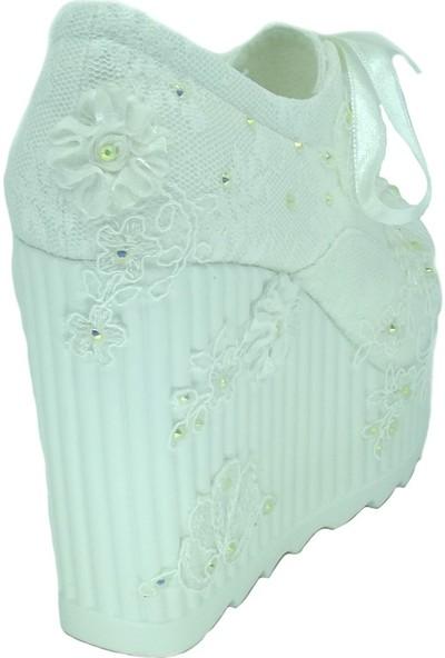Ventes 195378 Sedef Dantel Gelinlik Rahat 12 cm Taban Ayakkabı