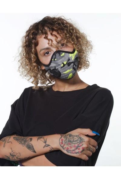 Oxy 3'lü Ayarlanabilen Filtreli Renkli Kamuflaj Yıkanabilir Maske Paketi