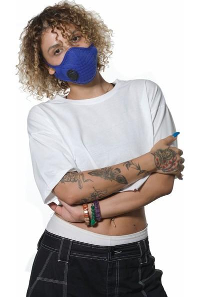 Oxy Ayarlanabilen Filtreli %100 Pamuk Saks Yıkanabilir Maske