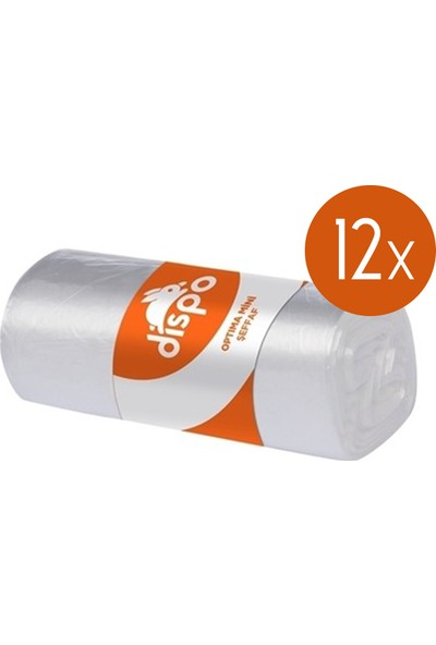 Dispo Mini Şeffaf Çöp Torbası 40 Yaprak 12'li