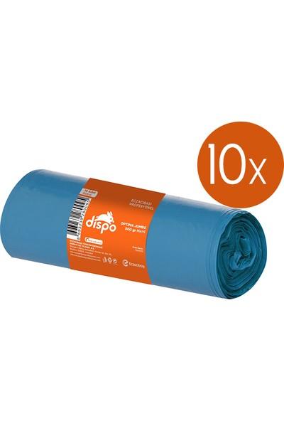 Dispo Jumbo Boy Mavi Çöp Torbası 80X100 10'lu