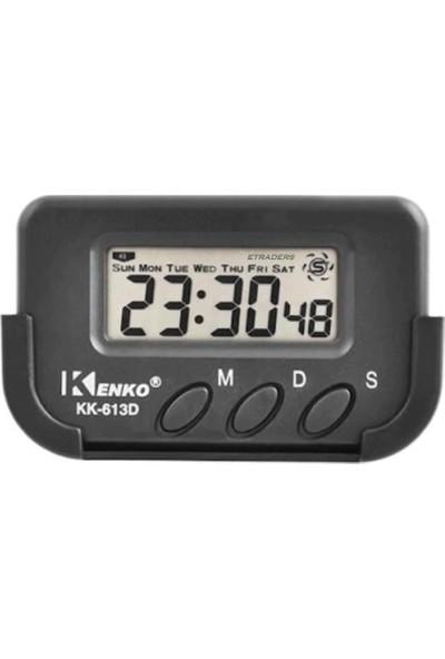 Kenko KK613D Kronometre & Dijital Alarmlı Araba Saati