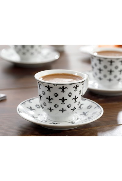 English Home Ilda Porselen 12 Parça Kahve Fincan Takımı 90 ml Mavi