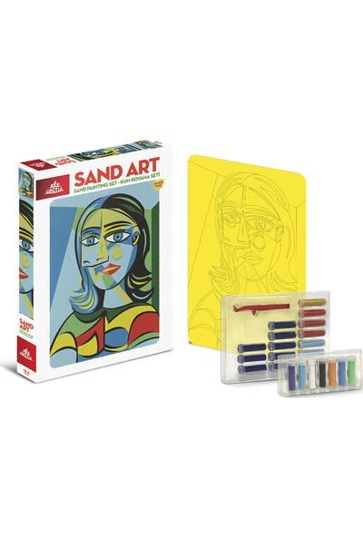 Red Castle Sand Art Kum Sanatı Yetişkin Kum Boyama Aktivite Seti Kübık Kadın