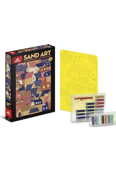 Red Castle Sand Art Kum Sanatı Yetişkin Kum Boyama Aktivite Seti Evler