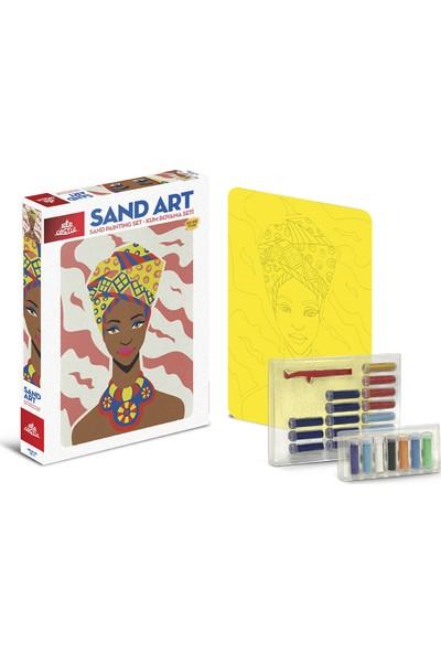 Red Castle Sand Art Kum Sanatı Yetişkin Kum Boyama Aktivite Seti Afrikalı Kız