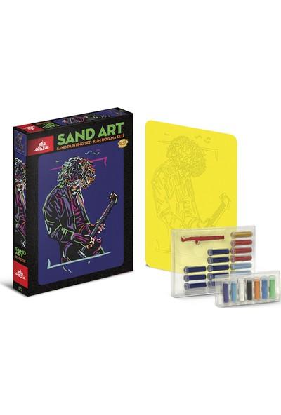 Red Castle Sand Art Kum Sanatı Yetişkin Kum Boyama Aktivite Seti Gitarist