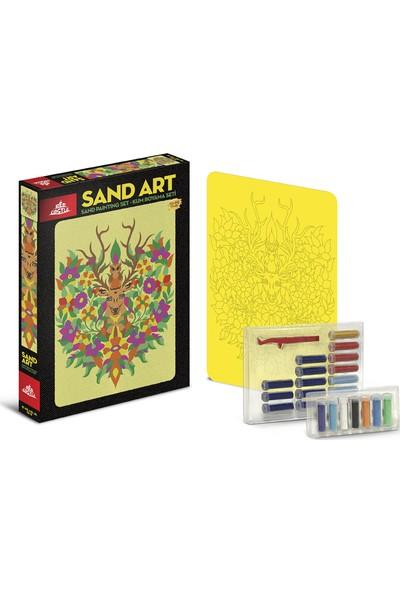 Red Castle Sand Art Kum Sanatı Yetişkin Kum Boyama Aktivite Seti Geyik