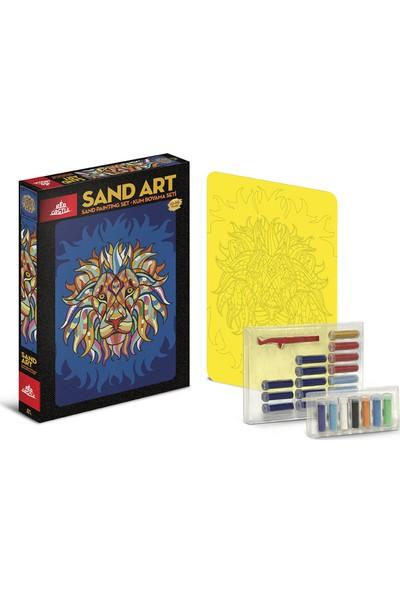 Red Castle Sand Art Kum Sanatı Yetişkin Kum Boyama Aktivite Seti Aslan