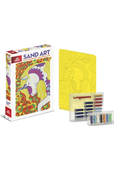 Red Castle Sand Art Kum Sanatı Yetişkin Kum Boyama Aktivite Seti Unicorn