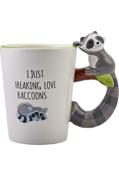 Karaca Animal Raccoon Mug