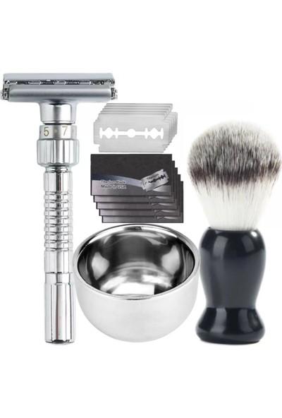 Qualis Shave Q8 Tıraş Makinesi + Fırça + Kase + 5 Adet Jilet