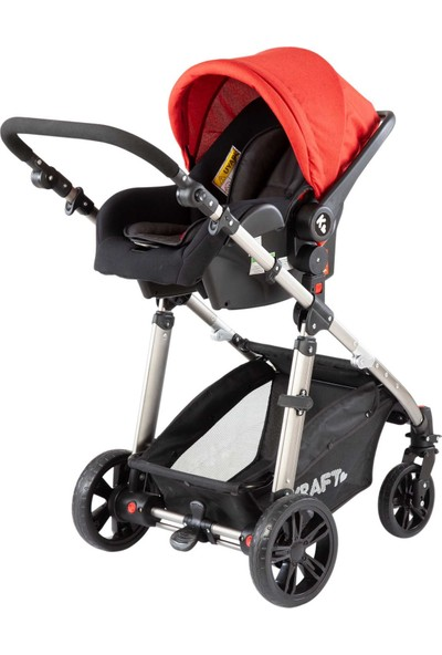 Kraft City Travel Sistem Bebek Arabası - Kırmızı