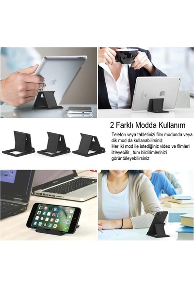 Rosstech 7 Farklı Açı Ayarlı Tablet Standı Pembe