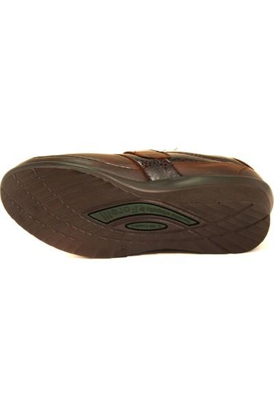Forelli 26213 Kadın Kahve Deri Kemik Çıkıntısına Özel Comfort Ayakkabı
