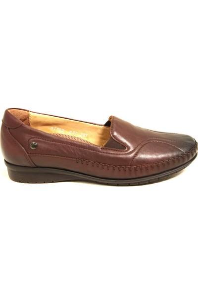 Forelli 51302 Kadın Kahve Comfort Deri Ayakkabı