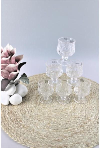 Arow Kristal Kesme 6 Adet Kahve Yanı Ayaklı Mini Su Bardağı 1630 Matilda
