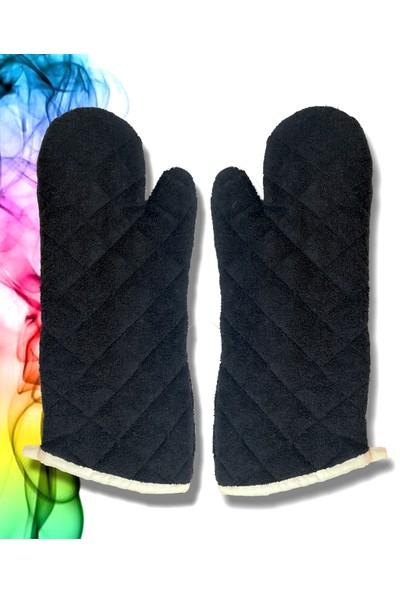 Dekamis Siyah Fırın Eldiveni Çift 40 cm Mutfak Eldiveni