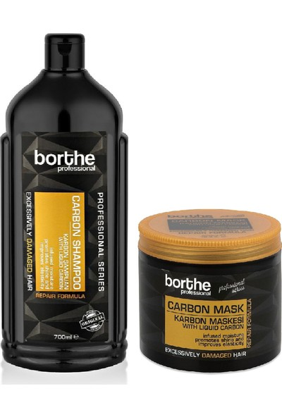 Borthe Profesyonel Carbon Saç Bakım Seti Şampuan + Maske