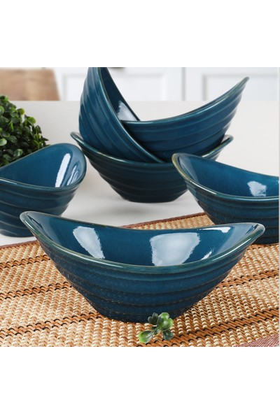 Keramika Safir Gondol Çerezlik 16 Cm 6 Adet