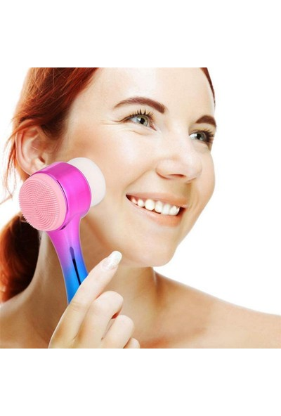 Buffer Çift Işlevli Renkli Cilt Yüz Temizleme Fırçası