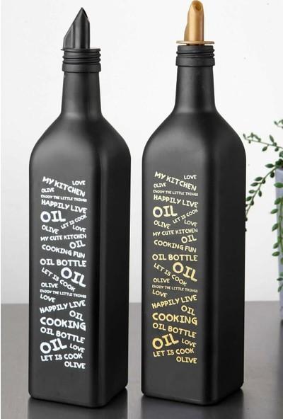 Fenx Concept Siyah Kare Yağdanlık 750 ml 2'li