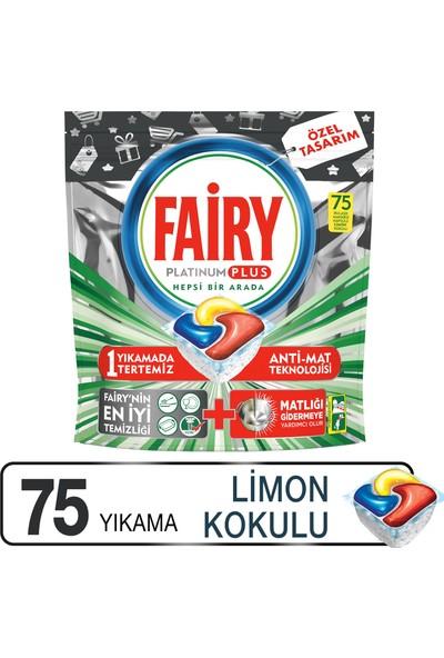Fairy Platinum Plus 75 Yıkama Bulaşık Makinesi Deterjanı Kapsülü Özel Seri
