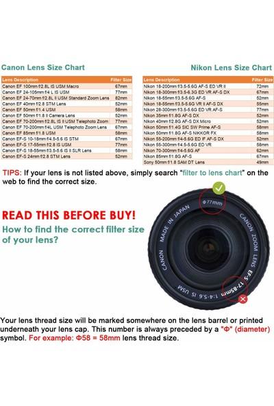 Waka Mc Uv Filtre - Ultra Slim 16 Katmanlı Ultraviyole Koruma Lensi
