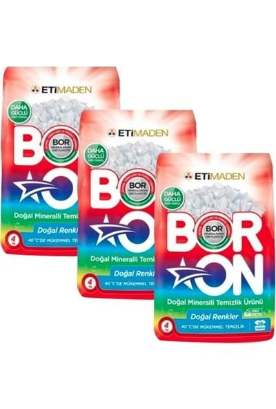 Boron Doğal Mineralli Temizlik Ürünü Renkliler İçin 4 kg x 3 Adet