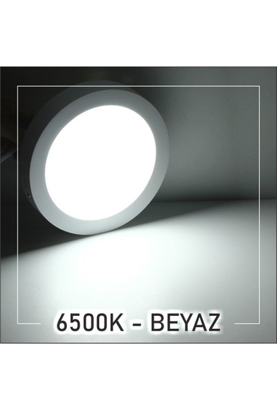 Dünya LED 20W Sıva Üstü Yuvarlak LED Panel Armatür