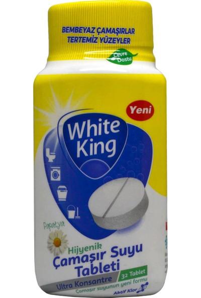 White King Çamaşır Suyu Tableti Papatya 32'li