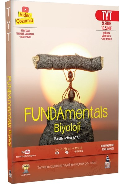Tonguç Akademi FUNDAmentals Biyoloji TYT Konu Anlatımlı Soru Bankası