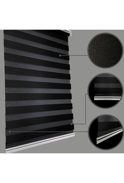 Lucra Concept Zebra Perde 616-15 Siyah MZ616-15 40x200 cm