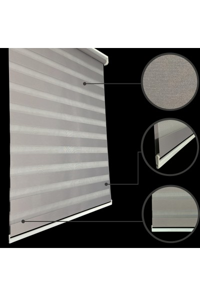 Lucra Concept Zebra Perde 616-18 Gri MZ616-18 40x200 cm