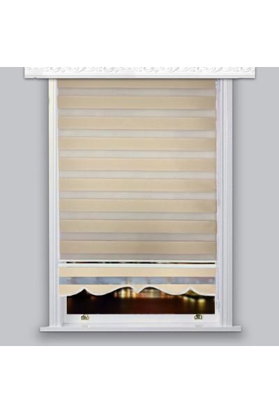 Lucra Concept Zebra Perde 616-03 Etek Dilimli Altın MZ616-3E 40x200 cm