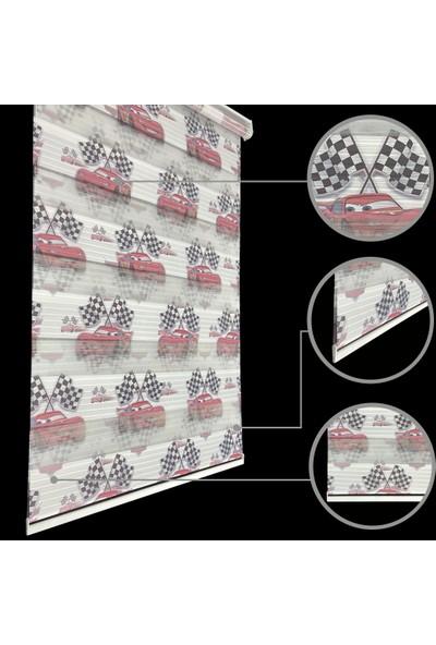 Lucra Concept Zebra Perde Arabalı Etek Dilimli & Boncuklu Beyaz MZDGT-9EB 40x200 cm
